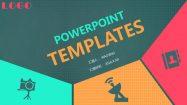 【色塊風PPT】高質感的27頁色塊風PPT模板下載,靜態彩色創意簡報的範例檔