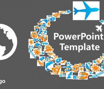 【旅遊業PPT】高質感的13頁旅遊業PPT模板下載,靜態旅遊規劃簡報的範例檔