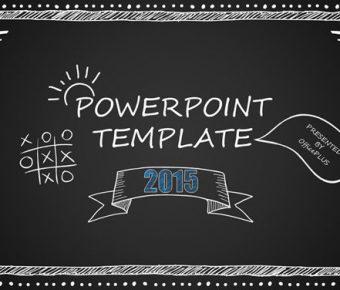 【粉筆字PPT】細緻的10頁粉筆字PPT模板下載,靜態黑板粉筆範本的頁面格式