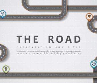 【道路設計PPT】精品的30頁道路設計PPT模板下載,靜態創意主題簡報的範本檔