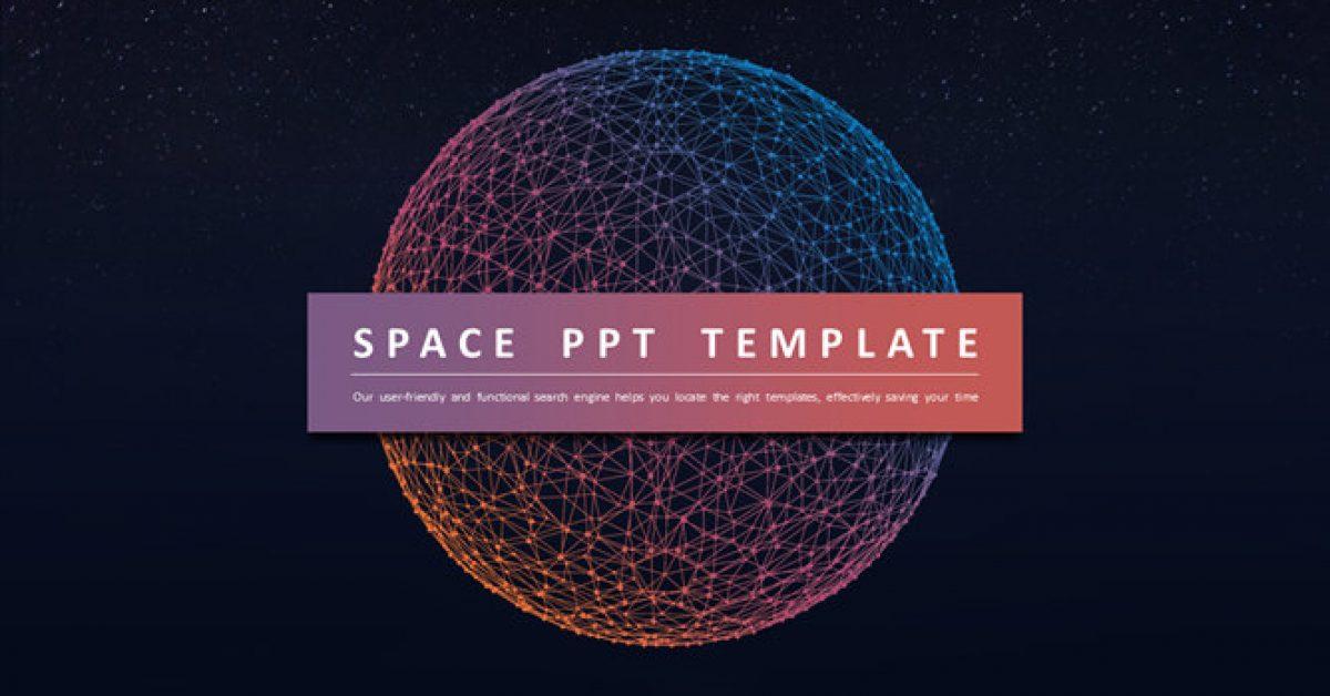 【星球背景PPT】高質感的30頁星球背景PPT模板下載,靜態科技宇宙簡報的下載格式