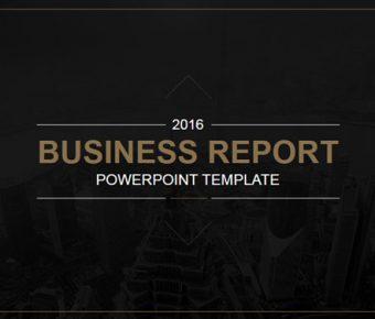【黑色背景PPT】精美的23頁黑色背景PPT模板下載,靜態商務黑色範本的範例檔