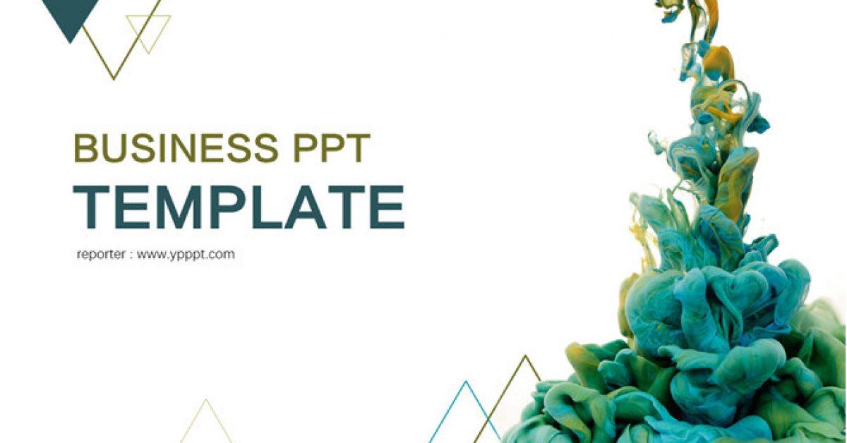 10套完美水彩PPT模板下载,可直接套用的简报范本