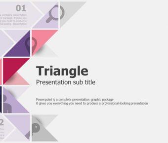 【三角元素PPT】精細的20頁三角元素PPT模板下載,靜態三角主題範本的素材格式
