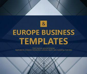【企業商務PPT】優質的28頁企業商務PPT模板下載,靜態歐美商務簡報的頁面格式