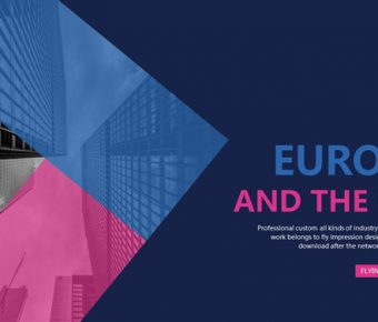 【歐美藝術PPT】完美的21頁歐美藝術PPT模板下載,動態特殊配色簡報的素材檔