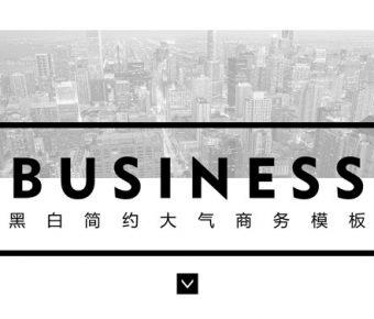 【黑白色PPT】優秀的25頁黑白色PPT模板下載,動態大型商務簡報的下載格式