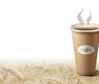 【PPT咖啡背景】完美的2頁PPT咖啡背景模板下載,靜態咖啡杯封面的樣式作業檔