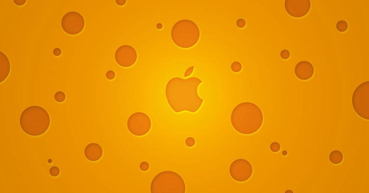 【PPT蘋果封面】精細的1頁PPT蘋果封面模板下載,靜態蘋果圖標素材的樣版檔