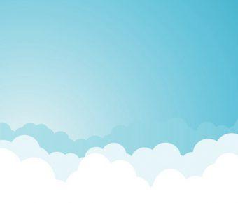 【PPT藍天封面】高品質的1頁PPT藍天封面模板下載,靜態藍天白雲背景的素材檔