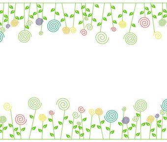 【PPT可愛花草】很棒的4頁PPT可愛花草模板下載,靜態花草背景素材的簡報作業檔