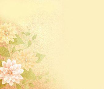 【PPT復古花背景】精緻的4頁PPT復古花背景模板下載,靜態古風花朵圖片的版型作業檔