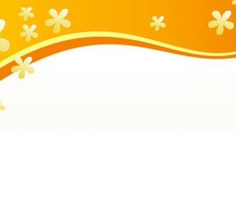 【PPT花邊封面】優秀的4頁PPT花邊封面模板下載,靜態橘色花邊圖案的範例作業檔
