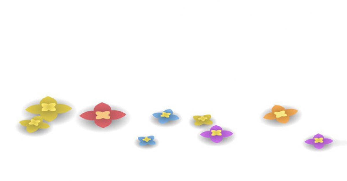 【PPT簡約花辦】極致的1頁PPT簡約花辦模板下載,靜態創意花朵素材的作業檔