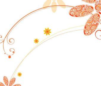 【PPT花紋封面】完整的4頁PPT花紋封面模板下載,靜態漂亮花紋圖案的素材檔