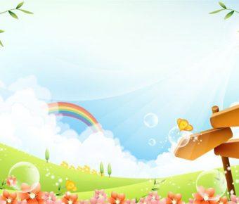 【PPT童話背景】優質的6張PPT童話背景模板下載,靜態夢幻童話封面的範本檔