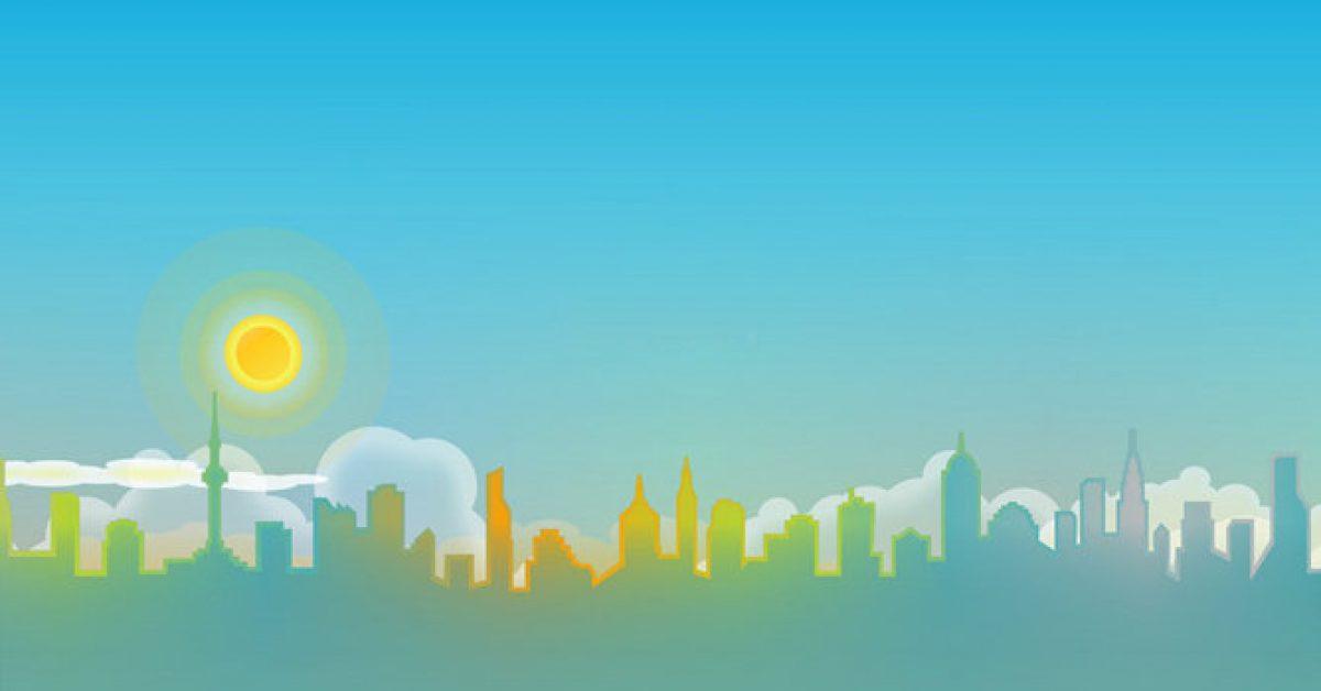 【PPT城市封面】精品的4張PPT城市封面模板下載,靜態卡通城市背景的模板擋