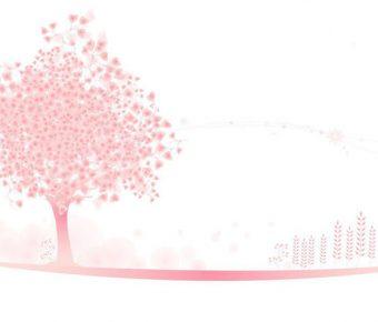 【PPT粉色封面】完善的3頁PPT粉色封面模板下載,靜態可愛小樹背景的編輯格式檔