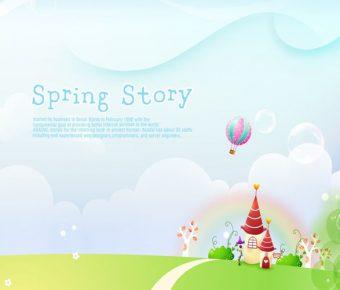 【PPT春天背景】最好的2頁PPT春天背景模板下載,靜態季節性封面的版型格式檔