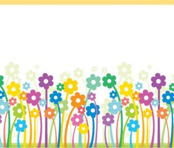 【PPT小花圖案】不錯的2頁PPT小花圖案模板下載,靜態花朵圖片背景的樣版檔