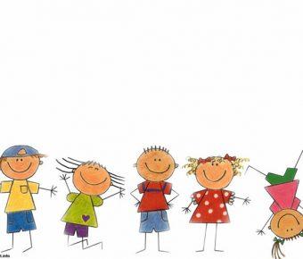 【PPT卡通小孩】無暇的6頁PPT卡通小孩模板下載,靜態小孩封面素材的簡報檔