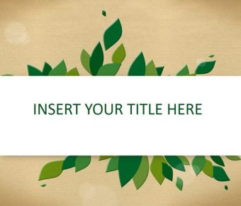 【PPT綠葉封面】細緻的2頁PPT綠葉封面模板下載,靜態復古葉子範本的頁面檔