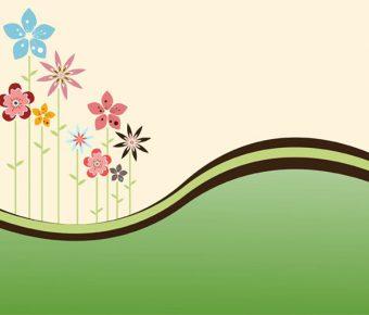 【PPT花朵封面】精細的2頁PPT花朵封面模板下載,靜態可愛花朵背景的素材格式