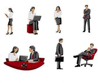 【PPT公司素材】大器的11張PPT公司素材下載,靜態業務人物圖案的頁面格式