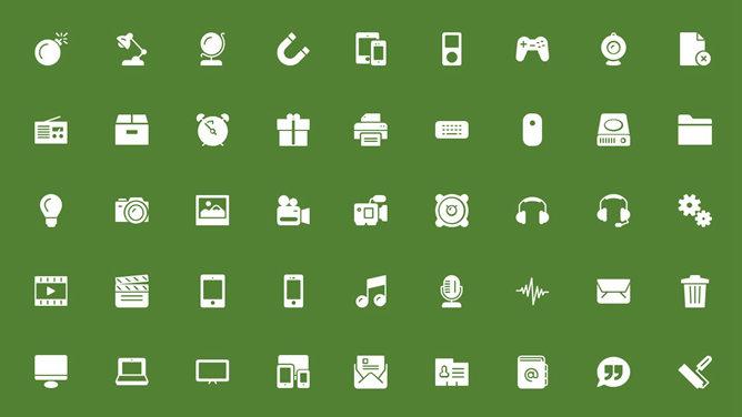 PPT簡約icon 模板下載 | 天天瘋PPT