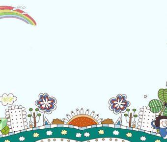 【PPT兒童背景】精美的7張PPT兒童背景模板下載,靜態可愛小孩插畫的作業檔