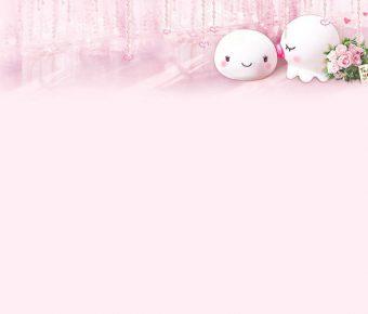 【PPT可愛背景】完整的2張PPT可愛背景模板下載,靜態粉色圖案底圖的簡報作業檔