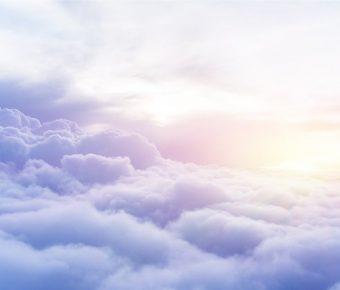 【PPT雲海背景】華麗的4頁PPT雲海背景模板下載,靜態雲海圖案素材的範例檔