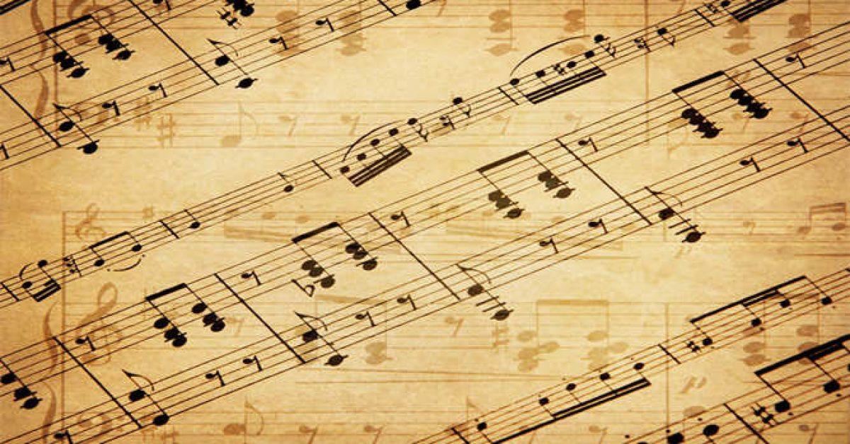 【PPT音樂背景】完美的2張PPT音樂背景模板下載,靜態樂譜圖案素材的模板格式檔