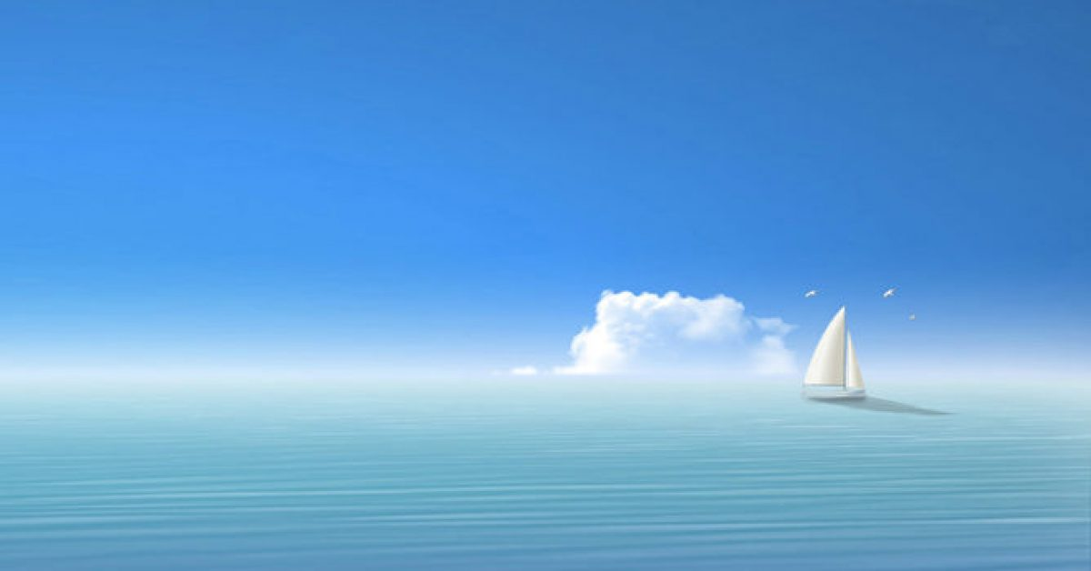 【PPT帆船背景】有設計感的5張PPT帆船背景模板下載,靜態可愛小船底圖的下載格式