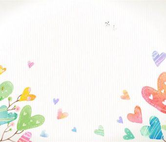 【PPT愛心背景】完整的1張PPT愛心背景模板下載,靜態心型圖案素材的模板格式