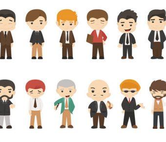 【PPT卡通素材】精美的96個PPT卡通素材下載,靜態Q版卡通人物圖案的範例作業檔