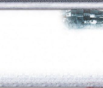 【PPT瓦牆背景】完整的2頁PPT瓦牆背景模板下載,靜態古代青磚素材的模板擋