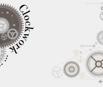 【PPT齒輪背景】無暇的2頁PPT齒輪背景模板下載,靜態藝術齒輪素材的素材格式