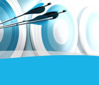【PPT標靶背景】精品的2頁PPT標靶背景模板下載,靜態目標行銷素材的頁面格式