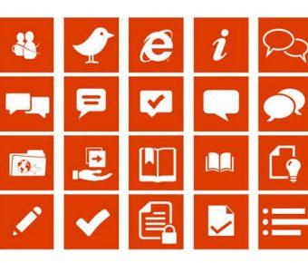【PPT扁平圖示】完善的10頁PPT扁平圖示下載,靜態扁平icon圖案的範例檔