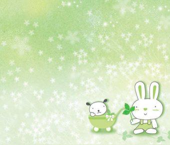 【PPT兔子背景】卓越的4頁PPT兔子背景模板下載,靜態可愛兔子素材的模板擋