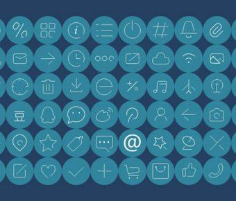 【PPT圖示素材】完美的1頁PPT圖示素材下載,靜態線條icon素材的模板格式