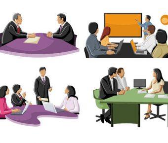 【PPT開會素材】極致的3頁PPT開會素材下載,靜態會議圖案範本的版型格式檔