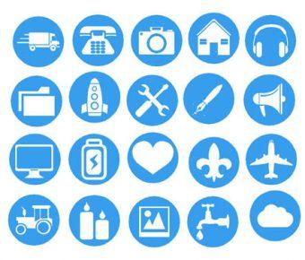 【PPT簡報icon】最好的7頁PPT簡報icon下載,靜態圓形圖標素材的樣版檔