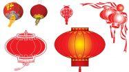 【PPT燈籠素材】高品質的23張PPT燈籠素材模板下載,靜態紅色燈籠圖案的範例檔