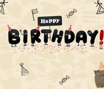 【生日慶生PPT】極致的20頁生日慶生PPT模板下載,動態生日快樂簡報的頁面檔