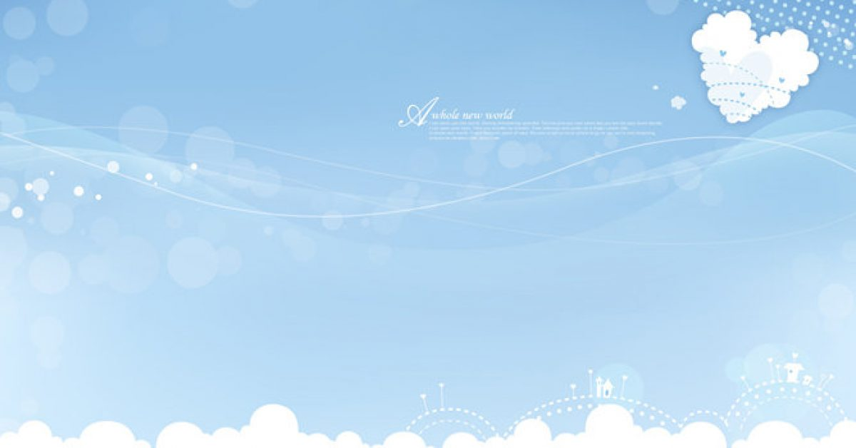 【PPT藍天背景】不錯的2張PPT藍天背景模板下載,靜態晴天圖案素材的版型格式檔