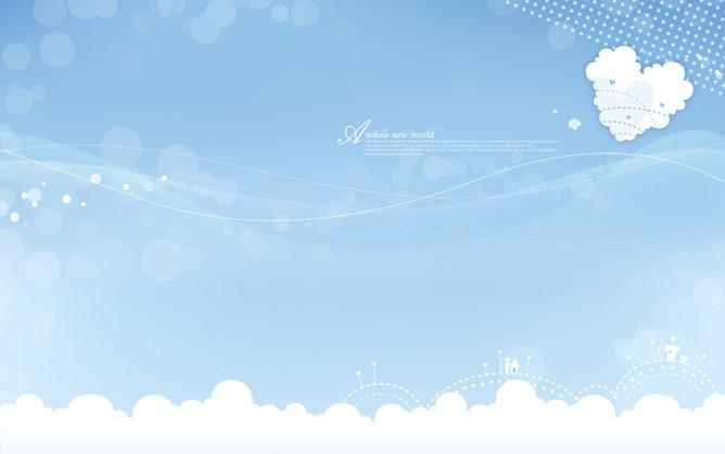 PPT藍天背景 模板下載 | 天天瘋PPT
