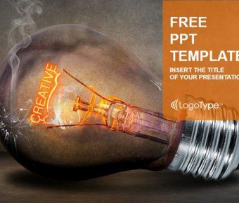 【PPT創意靈感】齊全的3頁PPT創意靈感模板下載,靜態靈感燈泡素材的樣版作業檔