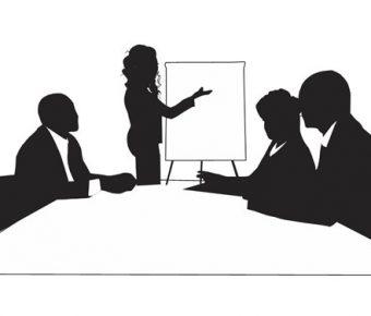 【PPT會議剪影】精緻的5頁PPT會議剪影素材下載,靜態商務人物剪影的版型格式檔